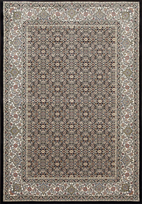 Dynamic Rugs Ancient Garden 57011-3263 Black-Ivory Traditional