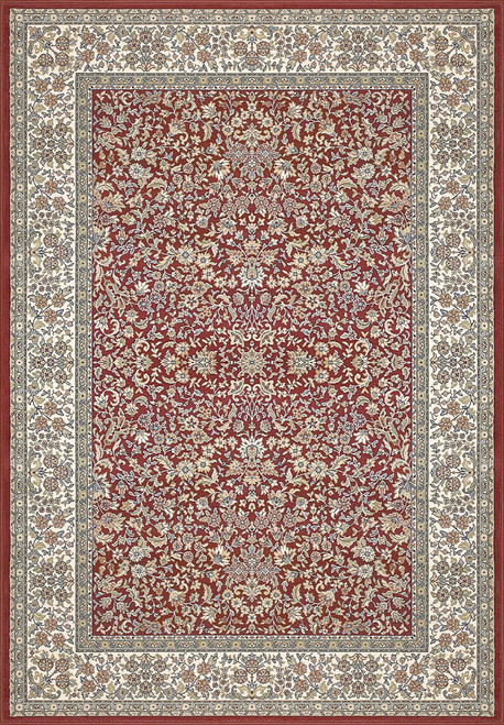 Dynamic Rugs Ancient Garden 57078-1414 Red-Ivory Traditional