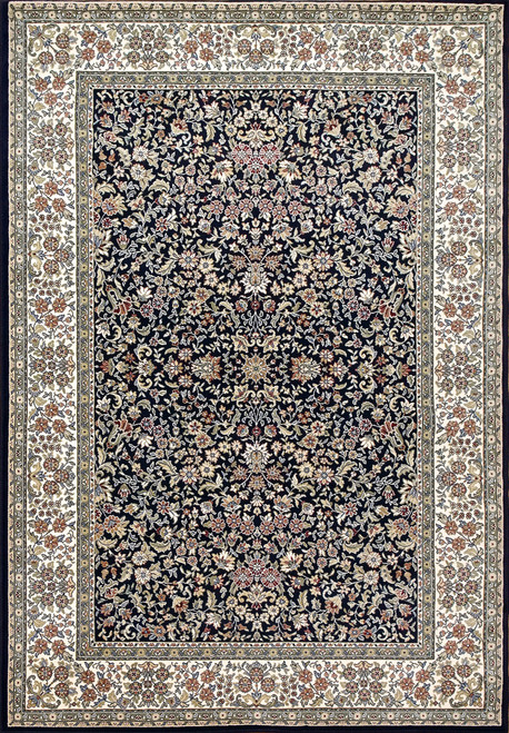 Dynamic Rugs Ancient Garden 57078-3434 Blue-Ivory