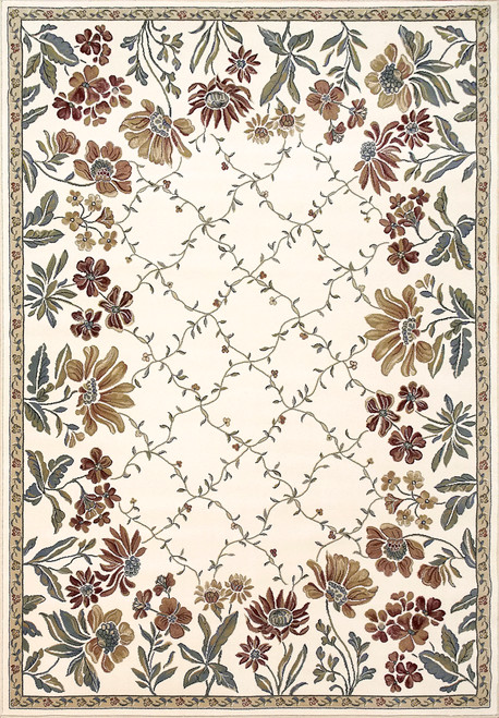 Dynamic Rugs Ancient Garden 57078-4444 Green-Ivory Traditional