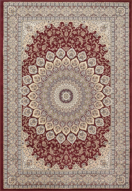 Dynamic Rugs Ancient Garden 57090-1484 Red Traditional