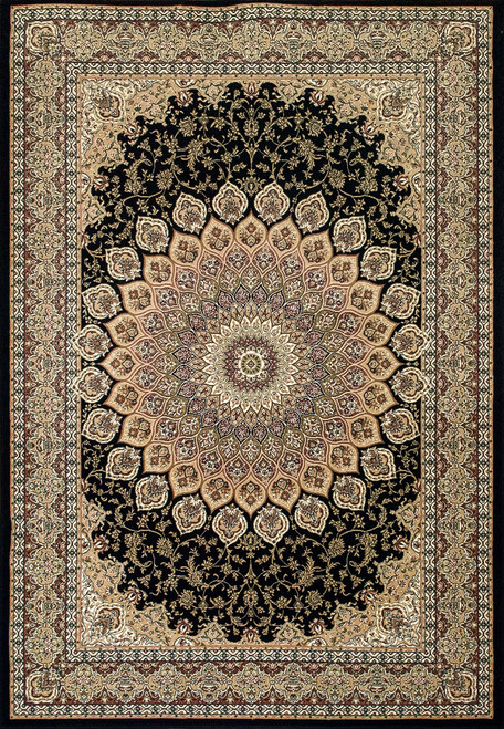 Dynamic Rugs Ancient Garden 57090-3484 Navy Traditional