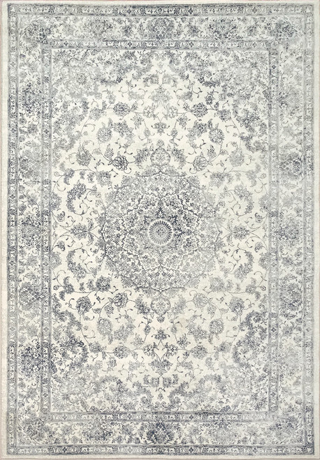 Dynamic Rugs Ancient Garden 57102-3636 Charcoal-Silver Traditional