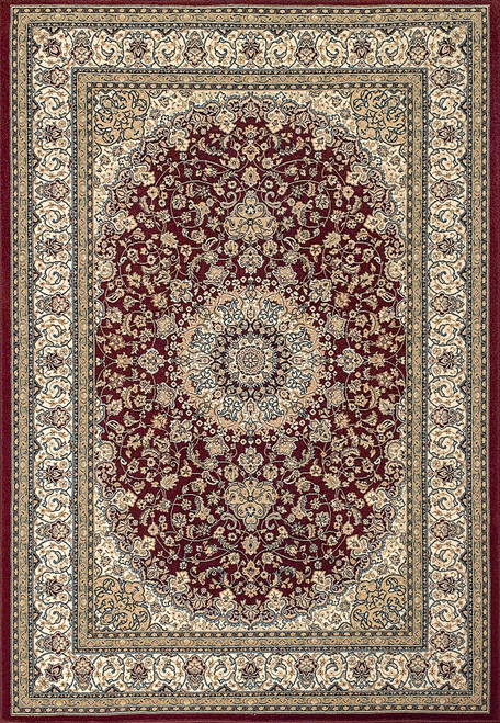 Dynamic Rugs Ancient Garden 57119-1414 Red-Ivory Traditional