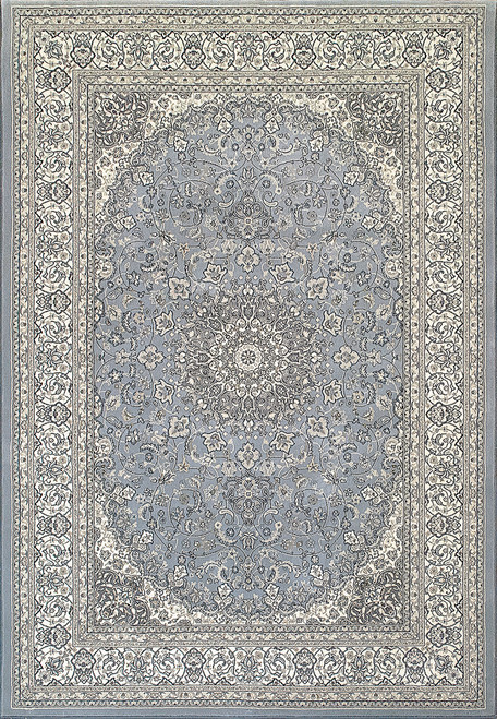 Dynamic Rugs Ancient Garden 57119-3434 Blue-Ivory Traditional