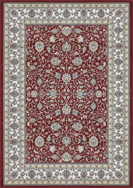 Dynamic Rugs Ancient Garden 57120-1464 Red-Ivory Traditional