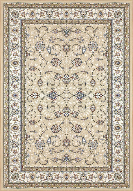 Dynamic Rugs Ancient Garden 57120-2464 Light Gold-Ivory Traditional