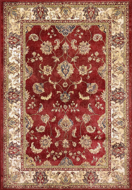 Dynamic Rugs Ancient Garden 57158-1464 Red-Ivory Traditional