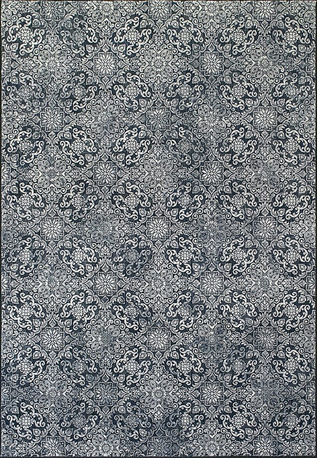 Dynamic Rugs Ancient Garden 57162-3696 Steel Blue Traditional