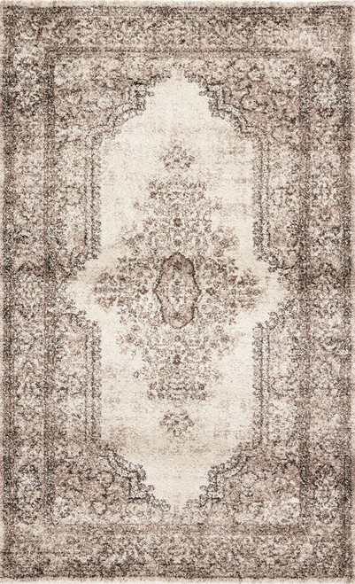 Jaipur Living Eisley Medallion Brown-Ivory Area Rug  - JAI-Brown DAT09