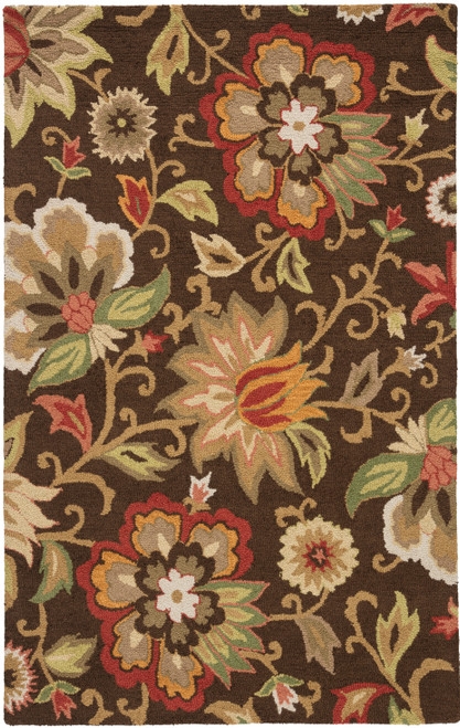 Jaipur Living Zamora Handmade Floral Brown-Multicolor Area Rug  - JAI-Brown HAC07