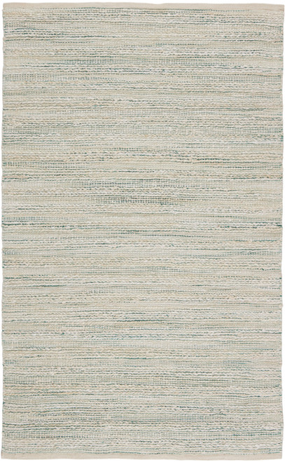 Jaipur Living Canterbury Natural Stripe White-Turquoise Area Rug  - JAI-White HM27