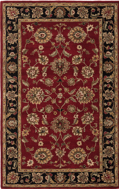 Jaipur Living Anthea Handmade Floral Red-Black Area Rug  - JAI-Red MY08