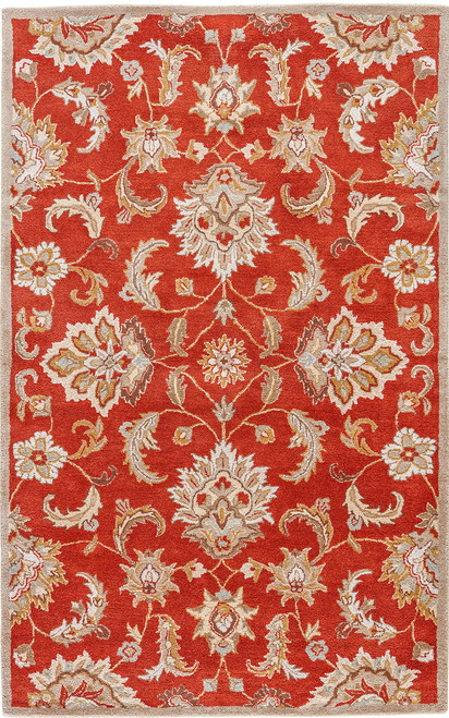 Jaipur Living Abers Handmade Floral Orange-Tan Area Rug  - JAI-Orange MY12
