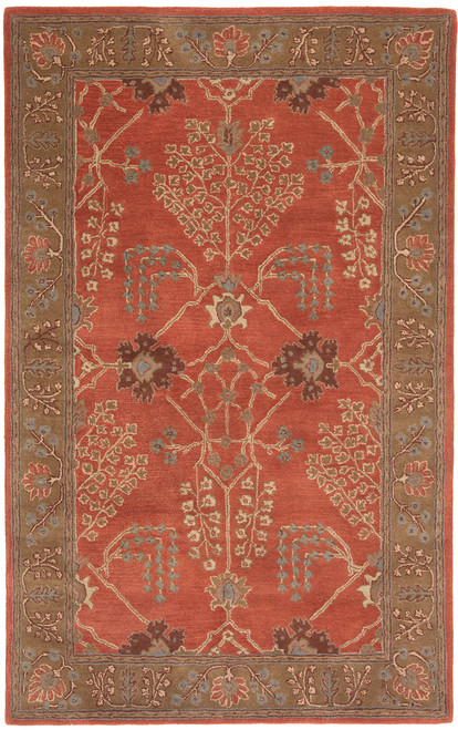 Jaipur Living Chambery Handmade Floral Orange-Brown Area Rug  - JAI-Orange PM51