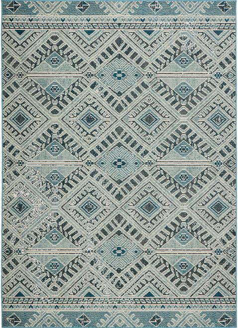 Jaipur Living Sax Tribal Blue-White Runner Rug  - JAI-Blue RHN07