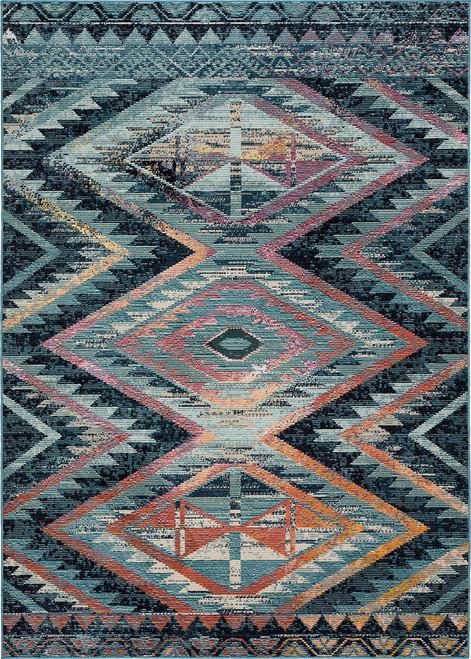 Jaipur Living Decca Tribal Blue-Multicolor Runner Rug  - JAI-Blue RHN10