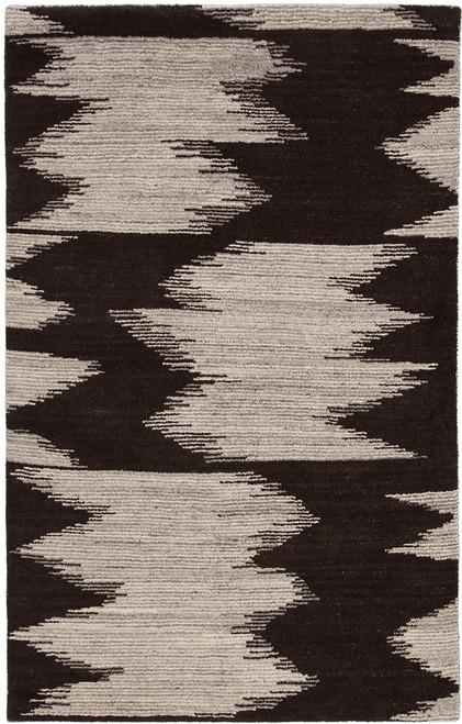 Jaipur Living Ozark Hand-Knotted Dark Brown-Ivory Area Rug  - JAI-Dark Brown SNO02