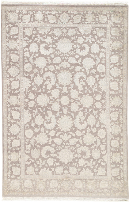 Jaipur Living Chicory Hand-Knotted Floral Taupe-Light Gray Area Rug  - JAI-Taupe STL03