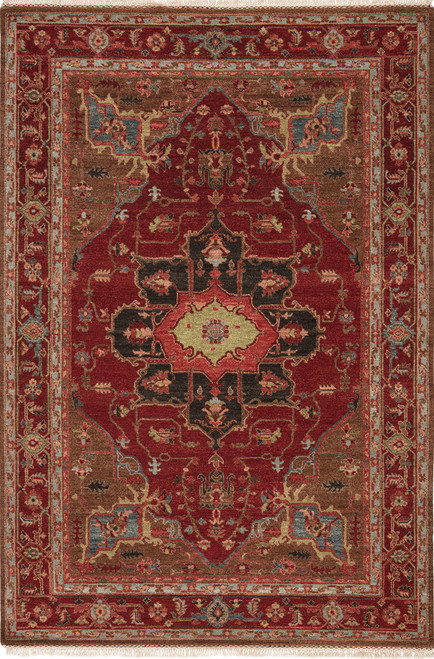 Artemis by Jaipur Living York Hand-Knotted Medallion Red-Brown Area Rug  - JAI-Red UT02