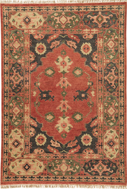 Artemis by Jaipur Living Azra Hand-Knotted Red-Black Area Rug  - JAI-Red VBA02