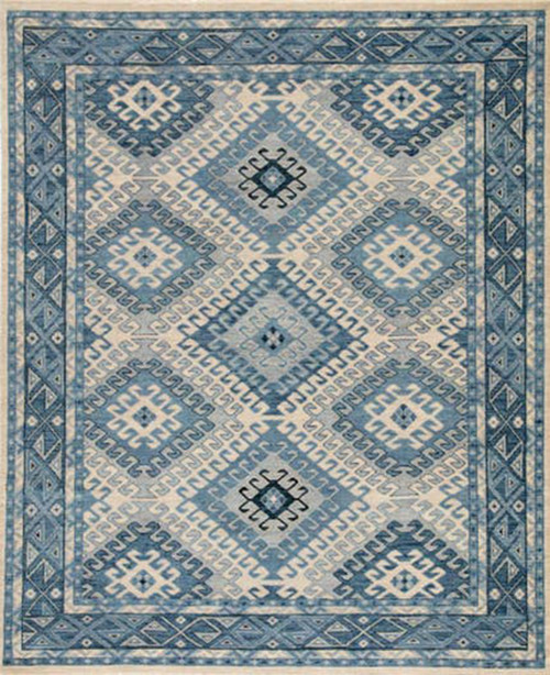 Artemis by Jaipur Living Hobbs Hand-Knotted Blue-Light Gray Area Rug  - JAI-Blue VBA03