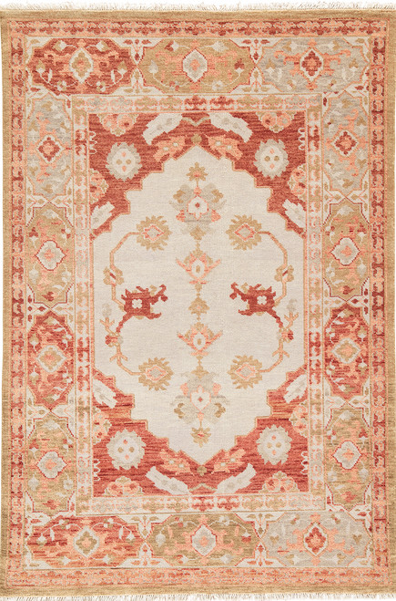 Artemis by Jaipur Living Azra Hand-Knotted Floral Red-Tan Area Rug  - JAI-Red VBA04