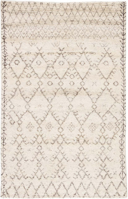 Jaipur Living Zola Hand-Knotted Ivory-Brown Area Rug  - JAI-Ivory ZUI01