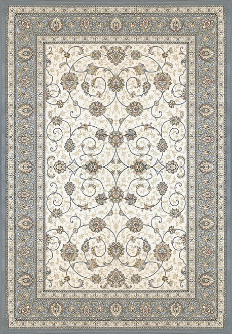 Dynamic Rugs Ancient Garden 57120-6454 Ivory/Light Blue