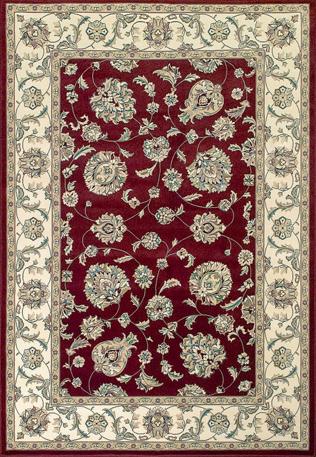 Dynamic Rugs Ancient Garden 57365-1464 Red/Ivory