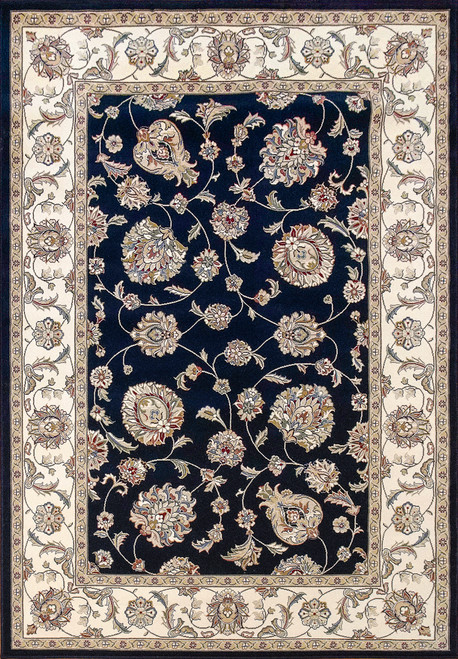 Dynamic Rugs Ancient Garden 57365-3464 Blue/Ivory