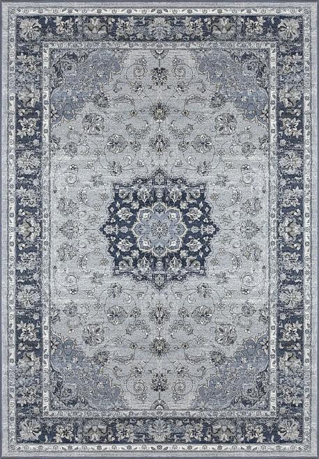 Dynamic Rugs Ancient Garden 57559-9686 Silver/Blue