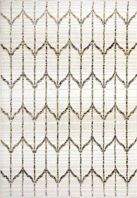 Dynamic Rugs Avery 6461-197 Ivory Grey Gold
