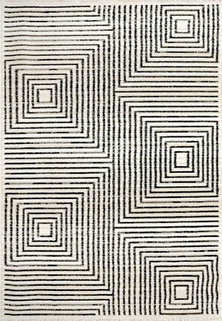 Dynamic Rugs Avery 6458-190 Ivory/Charcoal