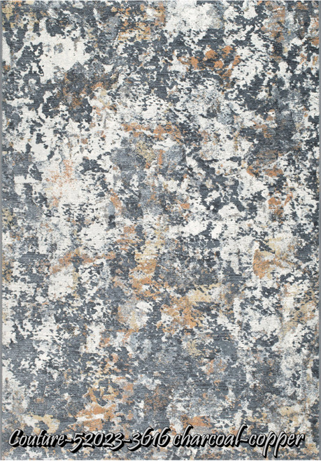 Dynamic Rugs Couture 52023-3616 Charcoal/Copper