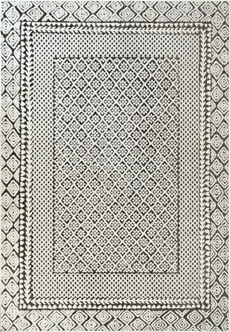 Dynamic Rugs Lotus 8148-190 Ivory/Charcoal