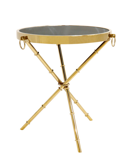 Pasargad Home Vicenza Collection Side Table, Gold