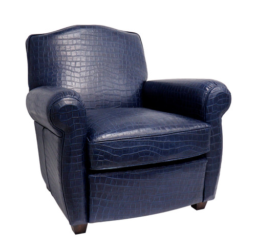 Pasargad Home Vicenza Collection Wing Chair, Blue