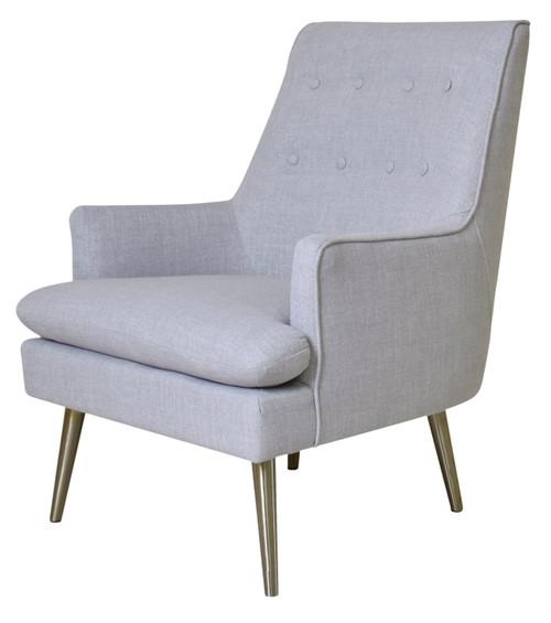 Pasargad Home Emily Collection Armchair,Silver