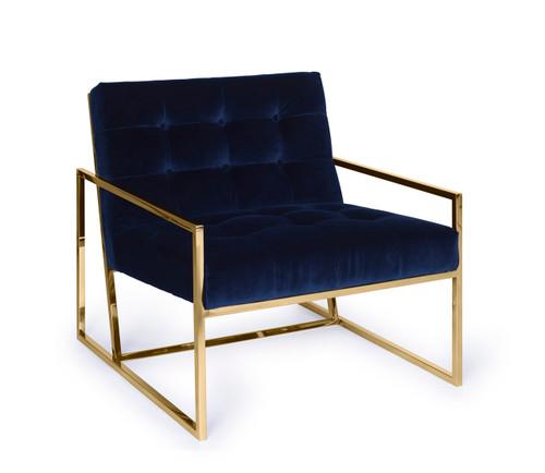 Pasargad Home Firenze Collection Loungechair, Navy