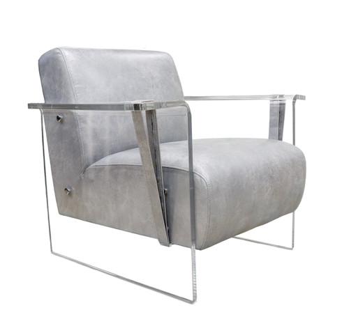 Pasargad Home Eleganza Modern Lucite Armchair