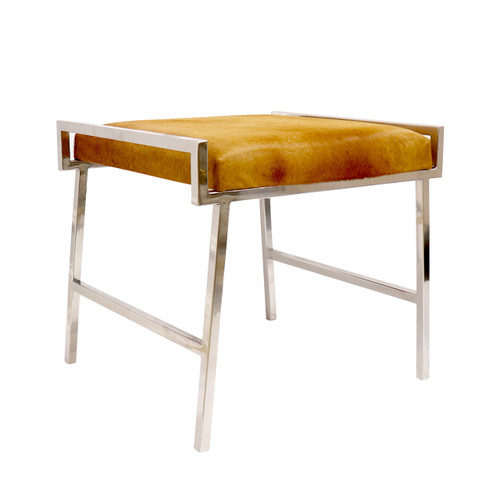 Pasargad Home Eira Cowhide Stool