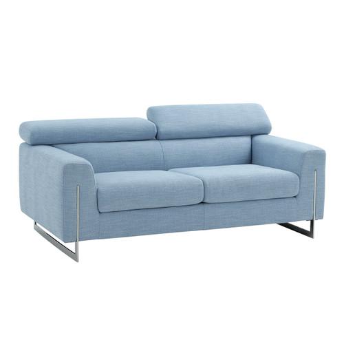 Pasargad Home Serena Modern Blue Loveseat
