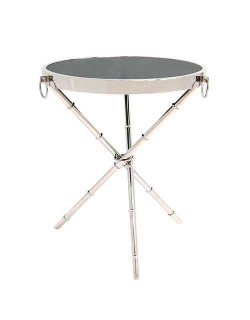 Pasargad Home Vicenza Collection Side Table, Silver