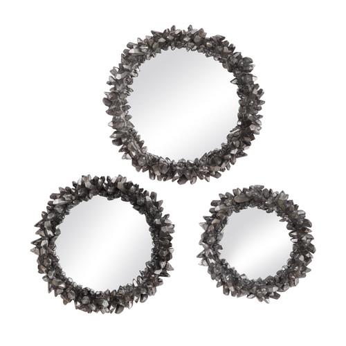 Uttermost Galena Round Mirrors, S/3