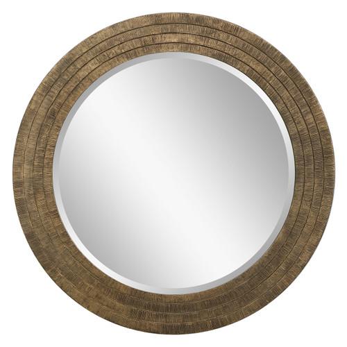 Uttermost Relic Aged Gold Round Mirror
