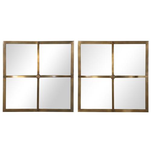 Uttermost Window Pane Square Mirrors, S/2
