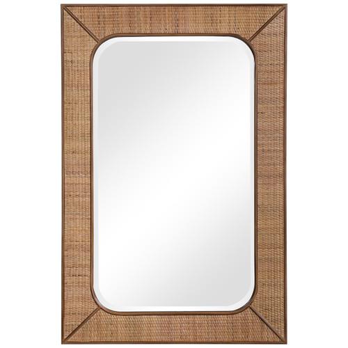 Uttermost Tahiti Rattan Mirror