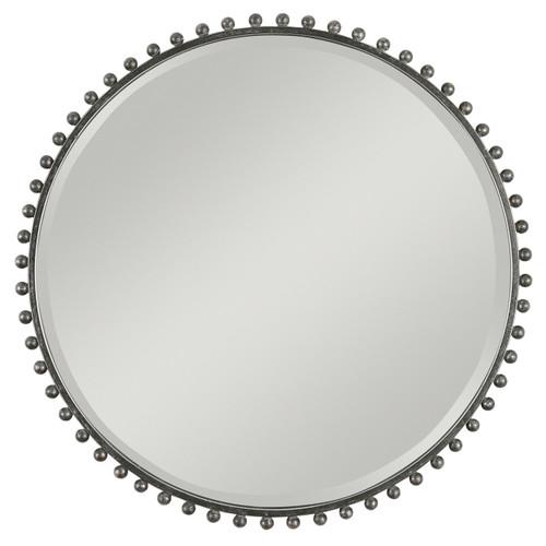 Uttermost Taza Round Iron Mirror