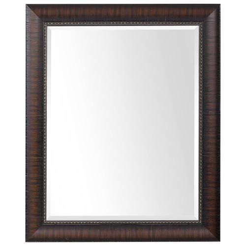 Uttermost Wythe Burnished Wood Mirror